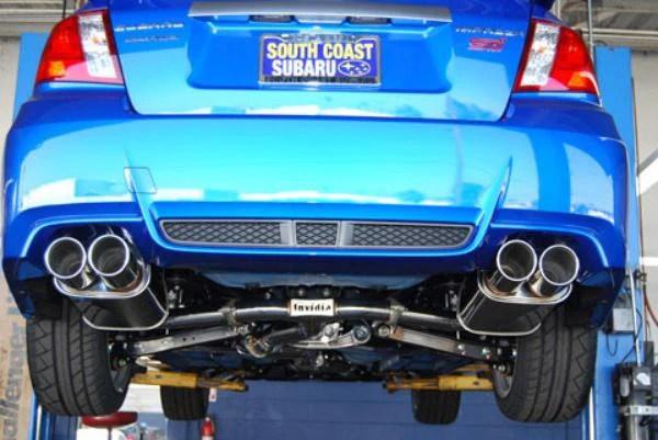invidia q300 cat back exhaust system 2011 2014 wrx sti sedan
