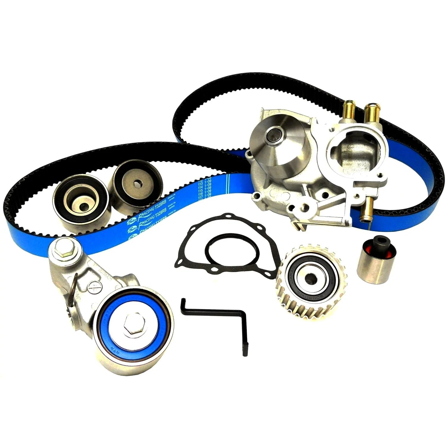 gates racing timing belt kit with water pump 2005 2009 legacy gt outback xt [ 1500 x 1500 Pixel ]
