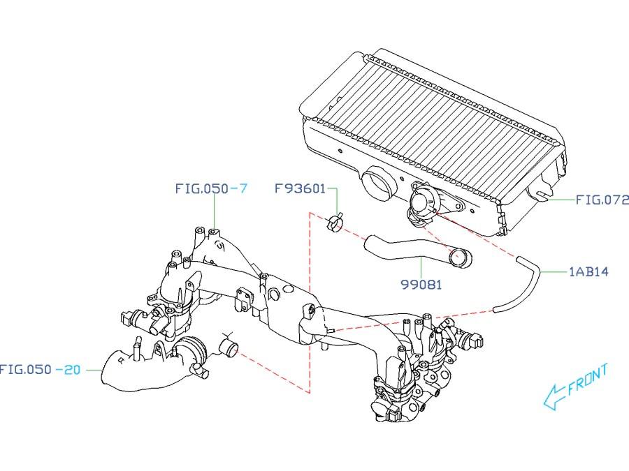 Subaru Compressor Bypass Valve (CBV) Return Hose 20022007