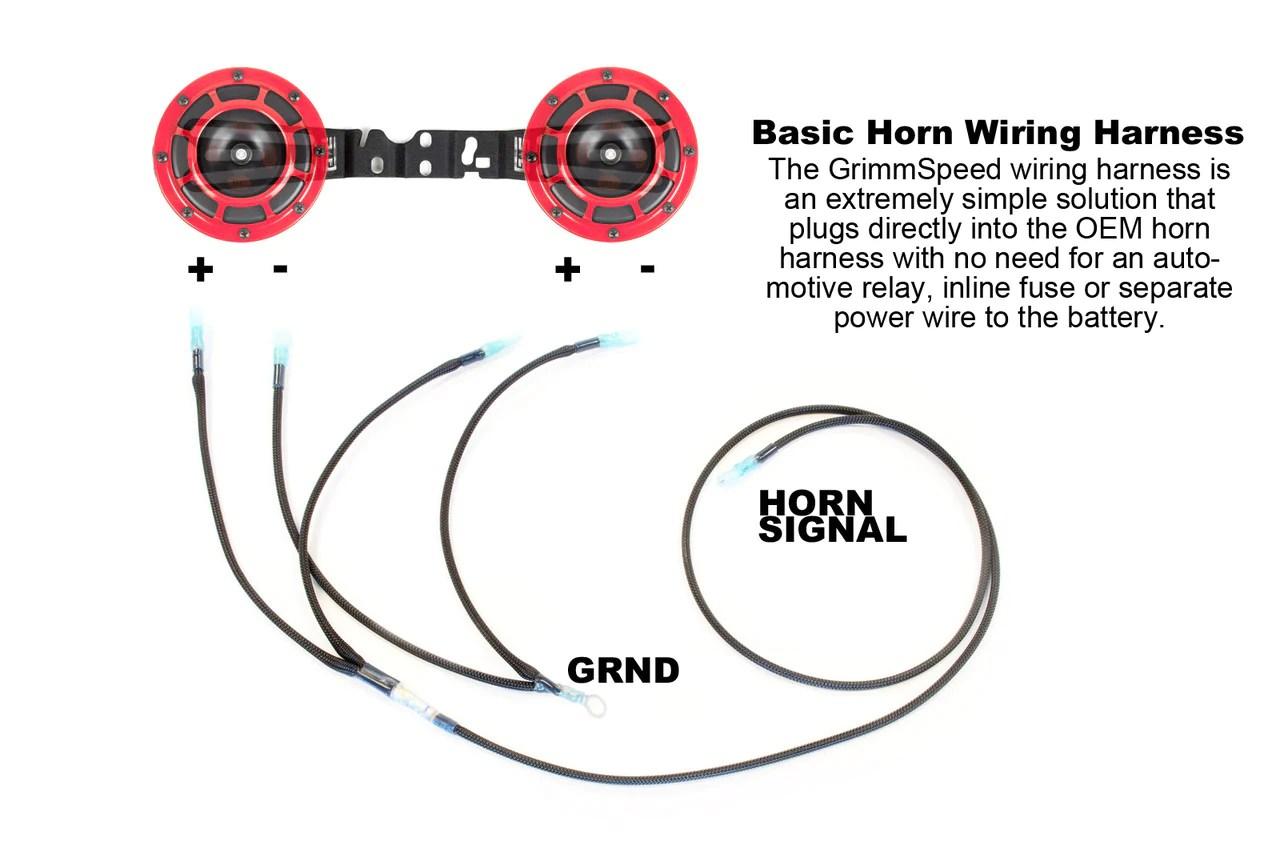 grimmspeed hella horn wiring harness 2002 2014 wrx 2004 2014 sti rh fastwrx com hella supertone [ 1280 x 854 Pixel ]