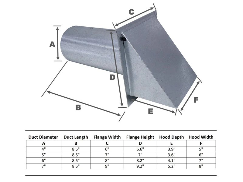 6 inch wall vent