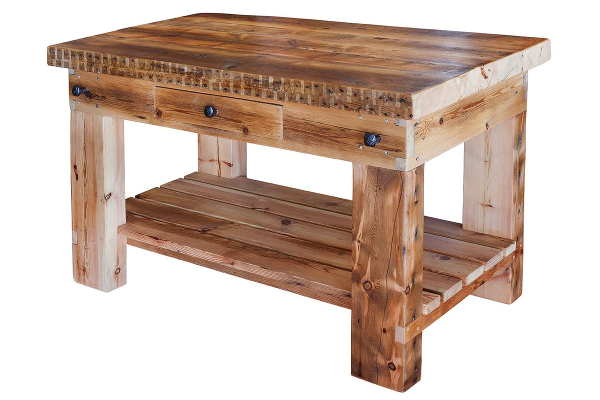 Plaistowe Recycled Baltic Timber Butchers Block Bespoke Furniture Gallery Perth