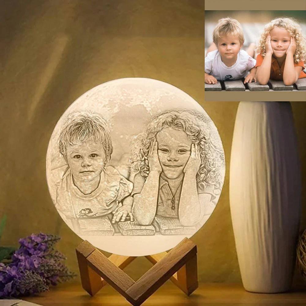 Benutzerdefinierte Foto Gravierte Mond Lampe Des Druck 3D ...