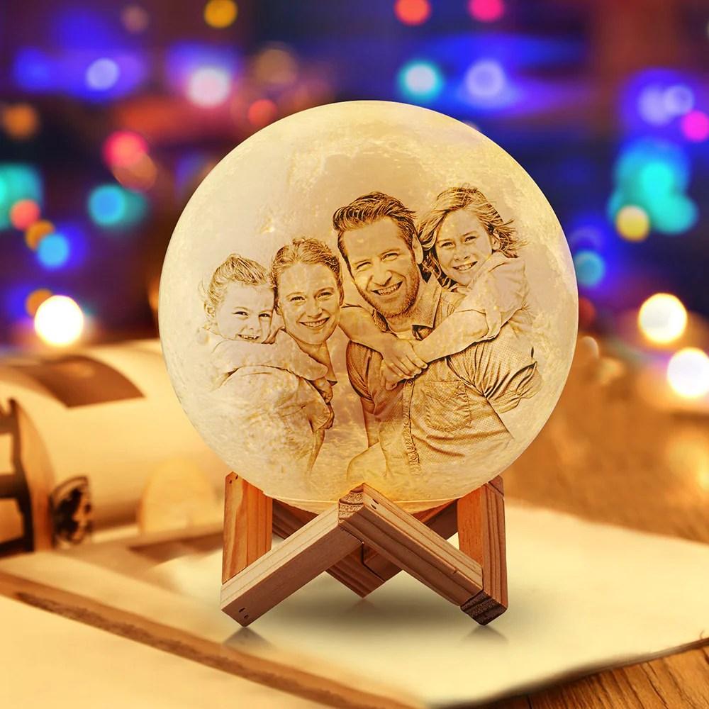 Personalisierte Kreative 3D Drucken Foto Mond Lampe ...