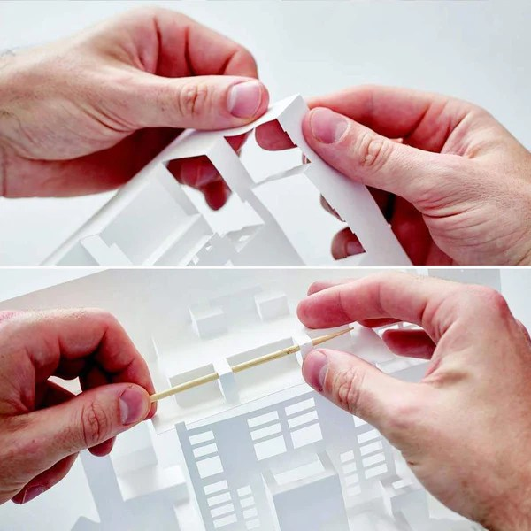 Frank Lloyd Wright Paper Models 14 Kirigami Buildings to