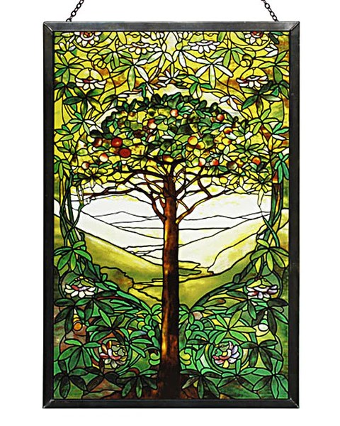 Tiffany Tree Of Life Stained Glass Panel ArchitectGiftsPlus