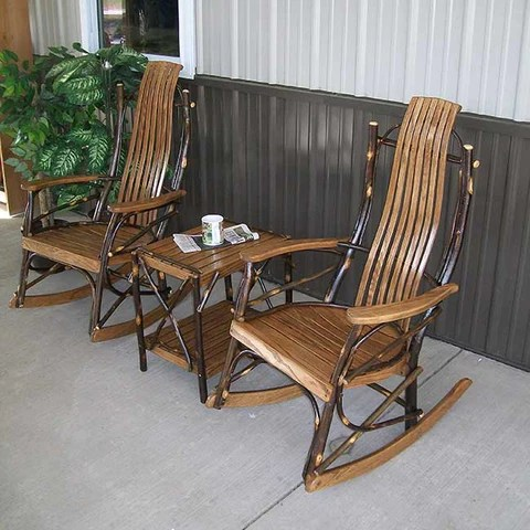 rustic hickory porch furniture made by