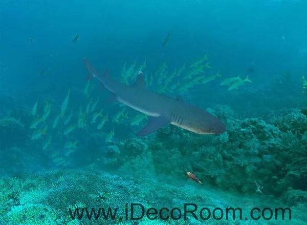 Shark Under The Sea Fish 00019 Floor Decals 3D Wallpaper
