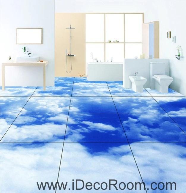 3d Sky Ceiling Wallpaper Blue Sky Clouds 00020 Floor Decals 3d Wallpaper Wall Mural