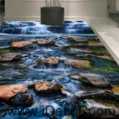 Modern Kitchen Cart Metal Sink Cabinet Unit Waterfall Stone Steam Brook 00025 Floor Decals 3d ...