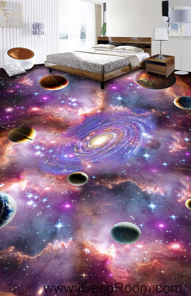 wall paper for living room rooms with sage green walls universe planet nebula galaxy 00075 floor decals 3d ...