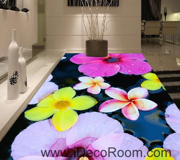 Large Tropical Flower 00077 Floor Decals 3D Wallpaper Wall