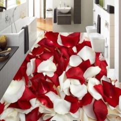 Wall Art Decor Ideas Living Room Paint Grey Sofa Red & White Rose Petal 00085 Floor Decals 3d Wallpaper ...