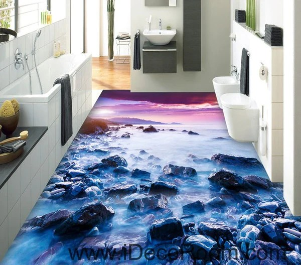 tropical living room decor argos white furniture sets mountain top clouds sunrise 00090 floor decals 3d ...
