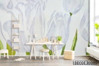 Simple floral white Nordic wallpaper wall murals IDCWP-HL ...