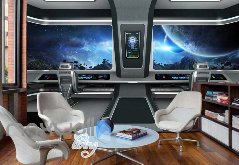 3d Wallpaper For Bedroom Price View Space From A Spaceship Art Wall Murals Wallpaper