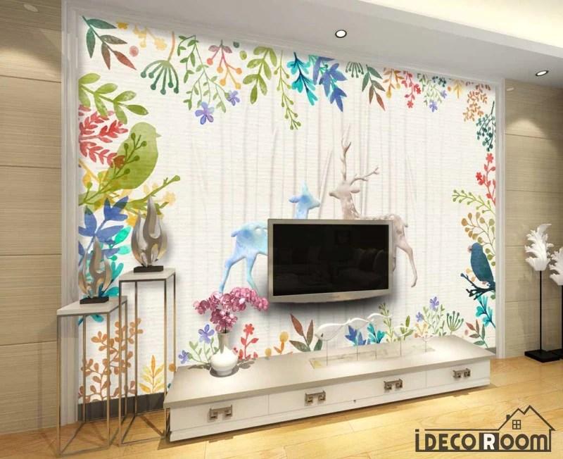 wallpaper living room wall city furniture naples vintage drawing dears flowers art murals tap to expand