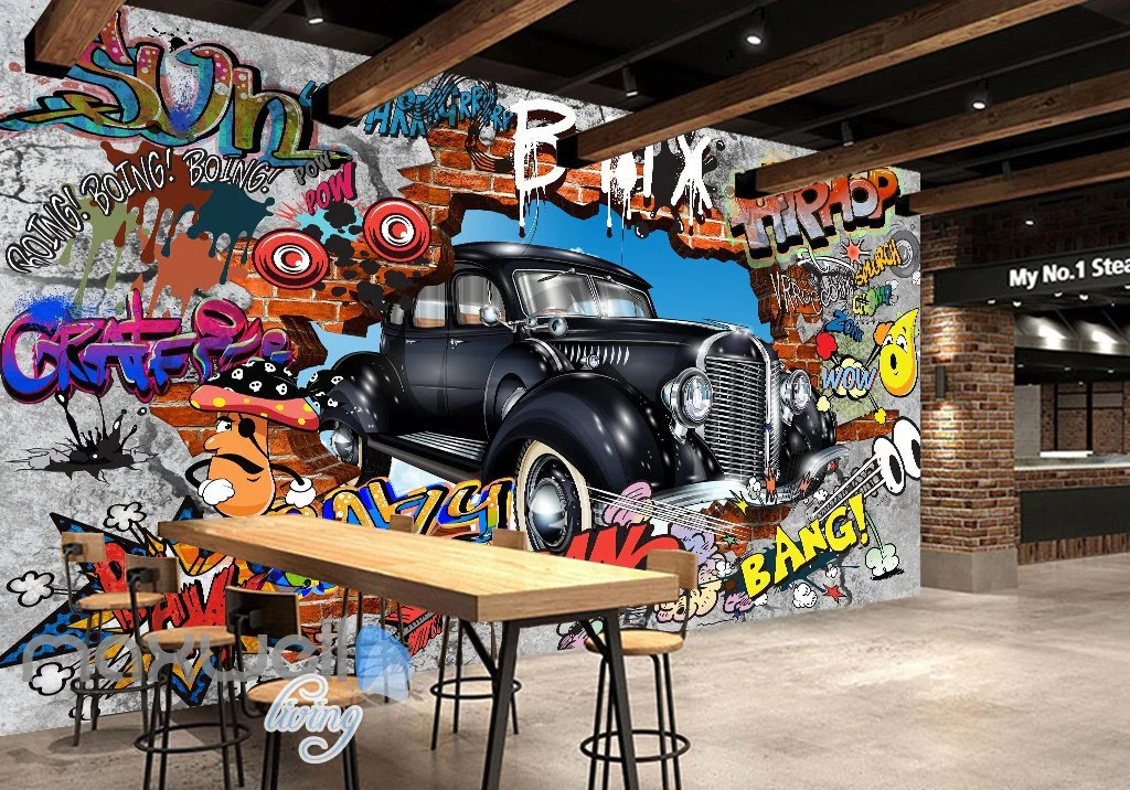 For full mural description, please see below Home Decor Details About 3d Retro Exquisite G013 Car Wallpaper Mural Poster Transport Wall Stickers Wendy Decor Decals Stickers Vinyl Art