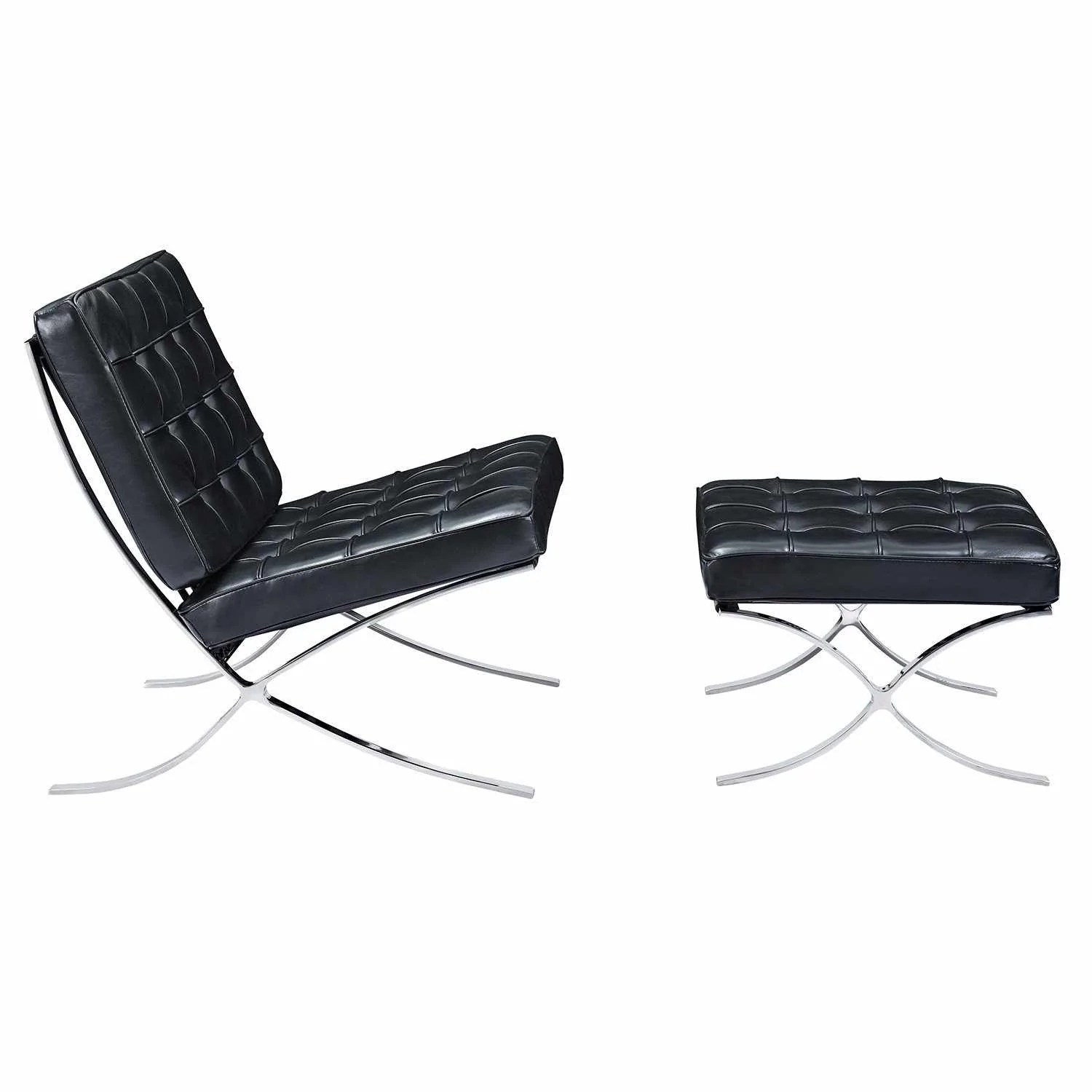 black chair and ottoman graco baby swing barcelona style reproduction emfurn