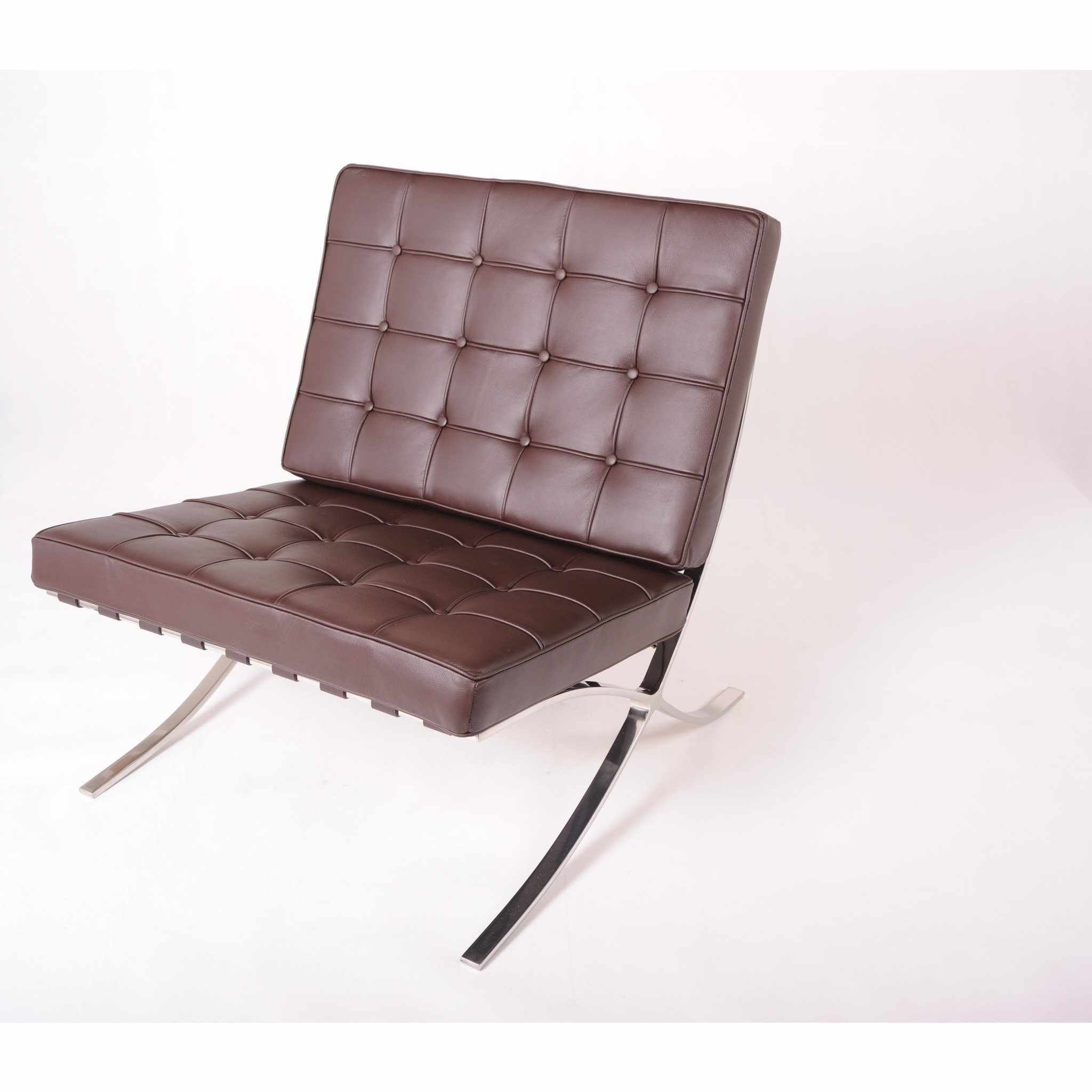 barcelona chair leather dining slipcovers cotton replica mies van der rohe best reproduction emfurn style