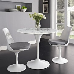 Tulip Table And Chairs Industrial Office Style 28 Quot Marble Dining Emfurn