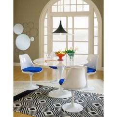 Tulip Table And Chairs Carpet Chair Mat No Lip Marble Tables Eero Saarinen Best Reproduction Emfurn Style Dining Side Set Of 2 Blue Free Shipping