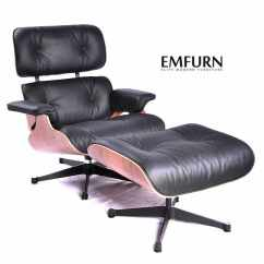 Eames Chair Replica Cover Seat Corners Dining Reproduction Lounge Emfurn Ottoman Premium Black Top Grain Italian Leather Walnut Chairs Free
