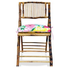 Lilly Pulitzer Chair Allen And Roth Chairs Cushion On Bamboo - Dixie & Grace