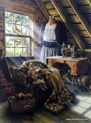 attic grandma doug knutson wildlifeprints artist closet attics country treasures sewing renovation remodel quilt playroom
