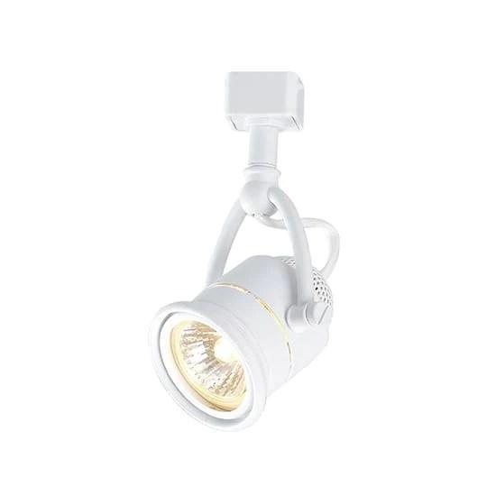 hampton bay retro 1 light white linear track lighting head home supply inc