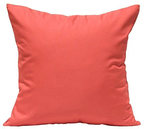 tangdepot durable faux silk solid pillow shams 18 x18 coral orang homeloft europe
