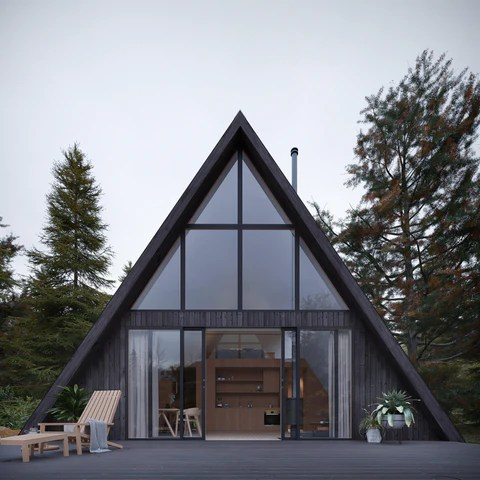 A Frame House Den