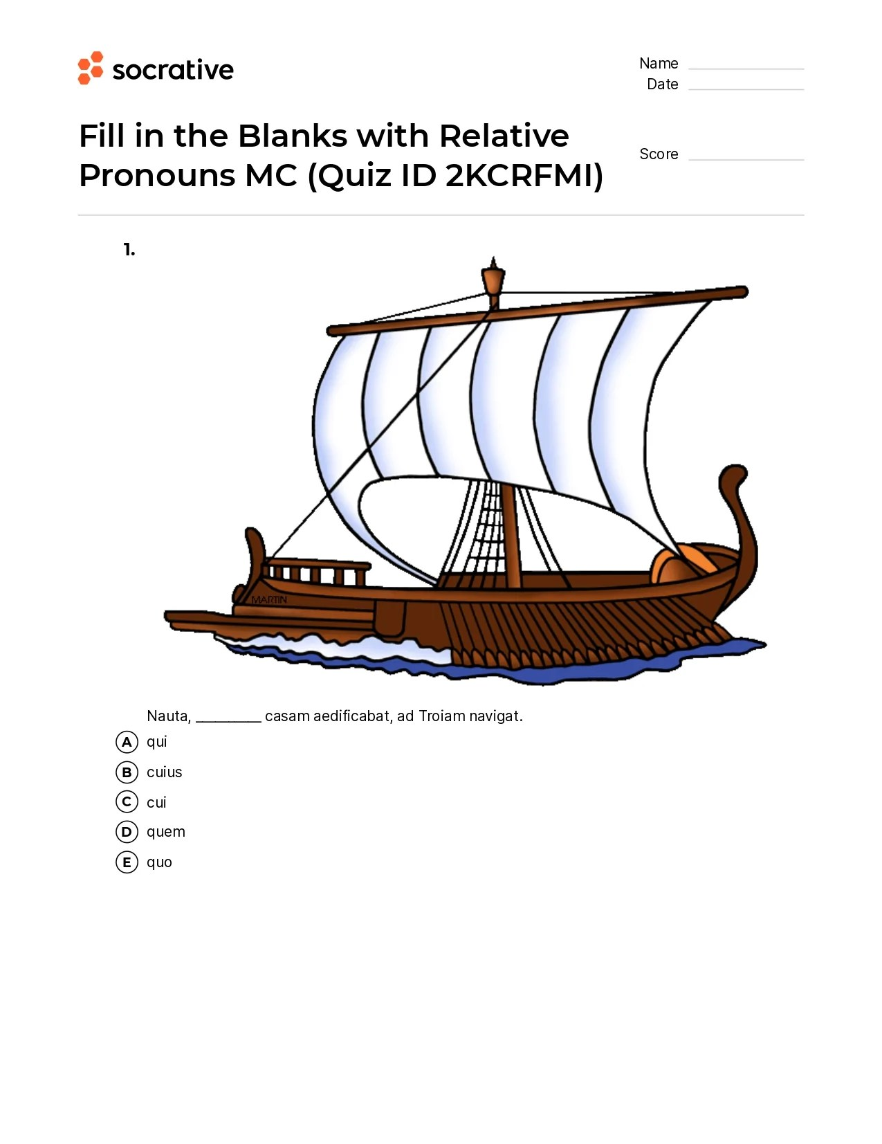 medium resolution of Fill In The Blanks With Relative Pronouns Mc – Quiz Shop