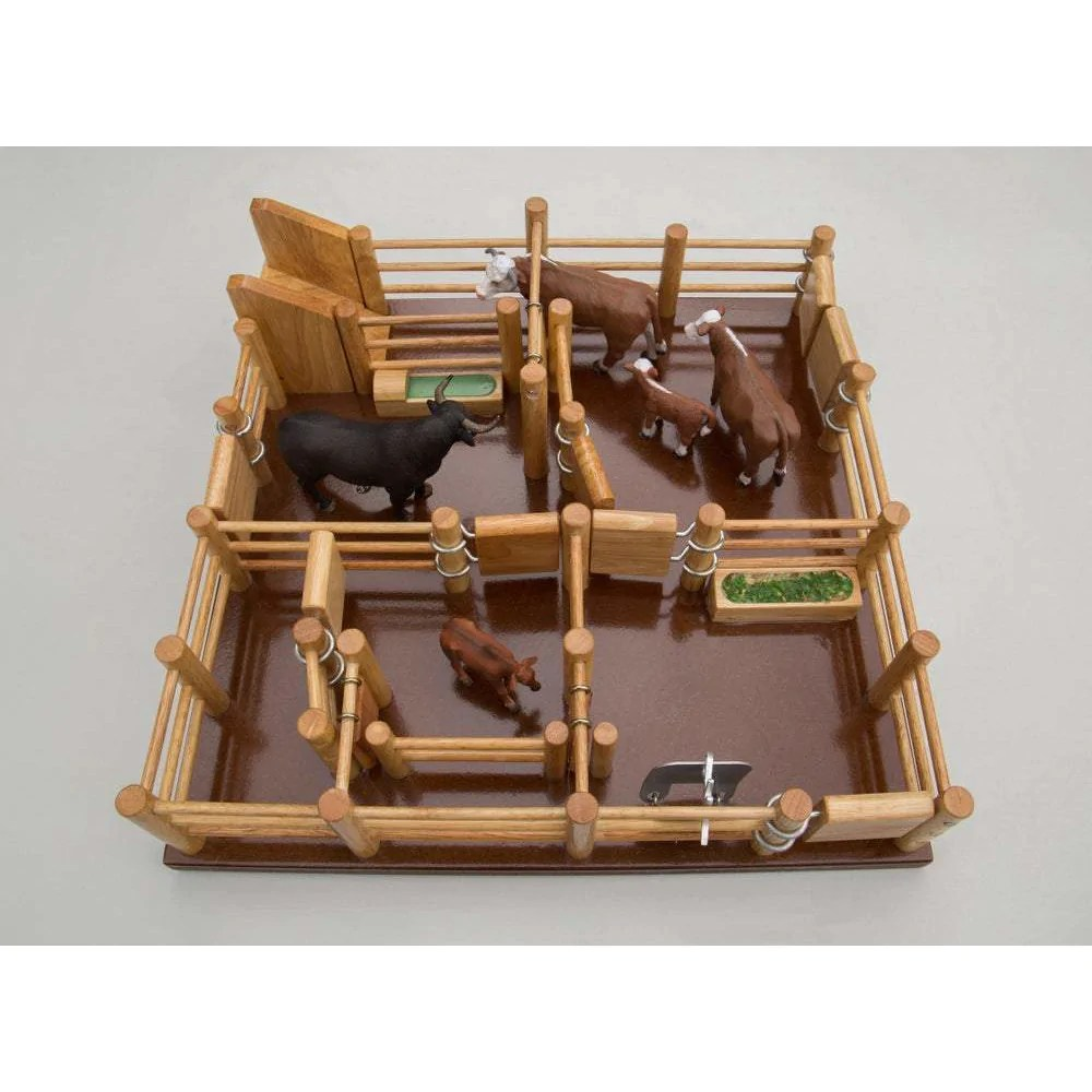 Cy5 Cattle Yard No 5 Handmade Wooden Toy Country