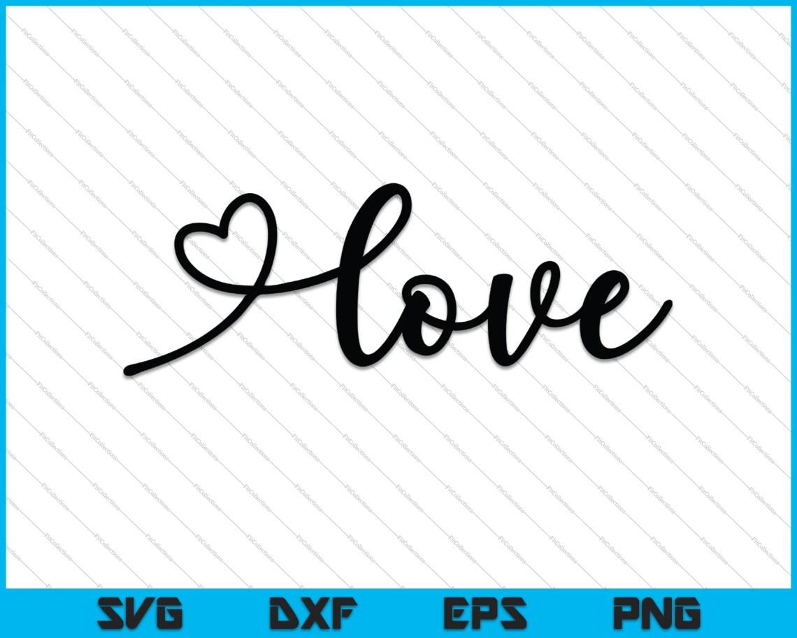 Download Script Love SVG PNG Cutting Printable Files - creativeusart