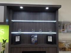 shelf lighting glass shelf lighting