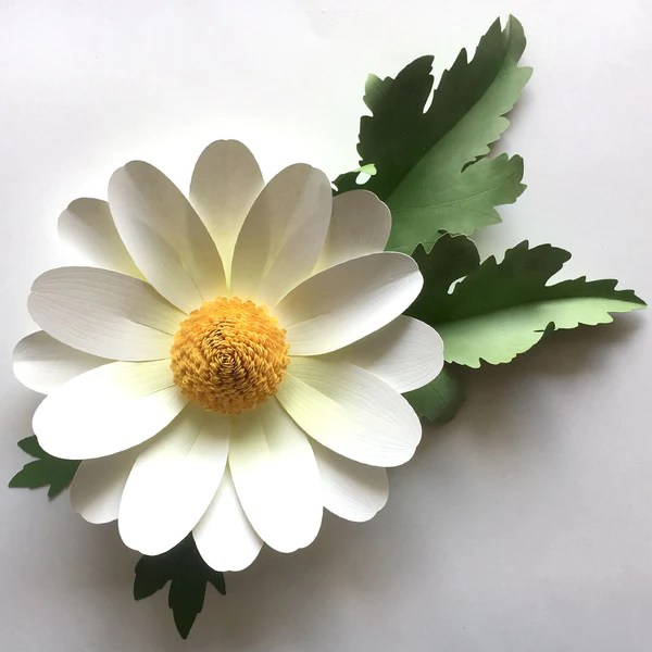paper flower leaves template