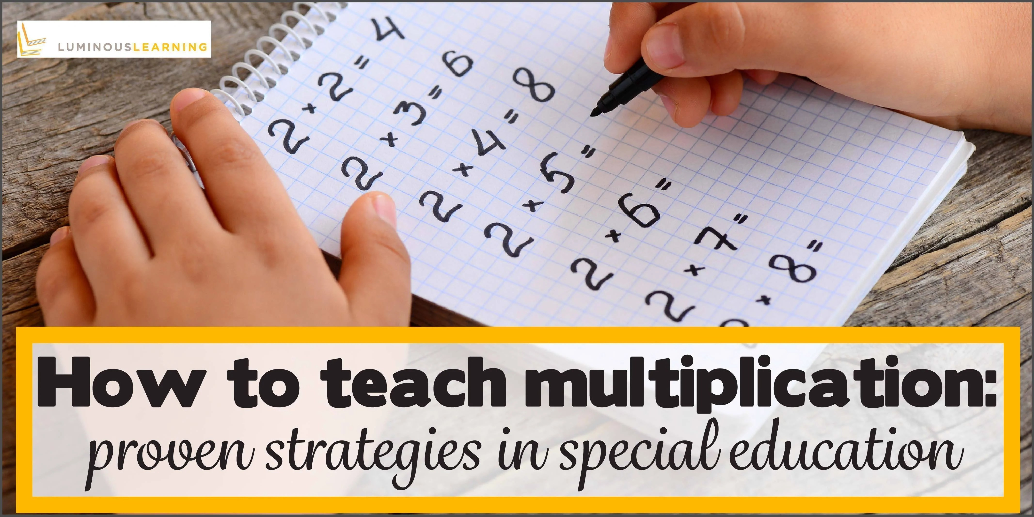 small resolution of How to teach multiplication facts: proven strategies in special ed