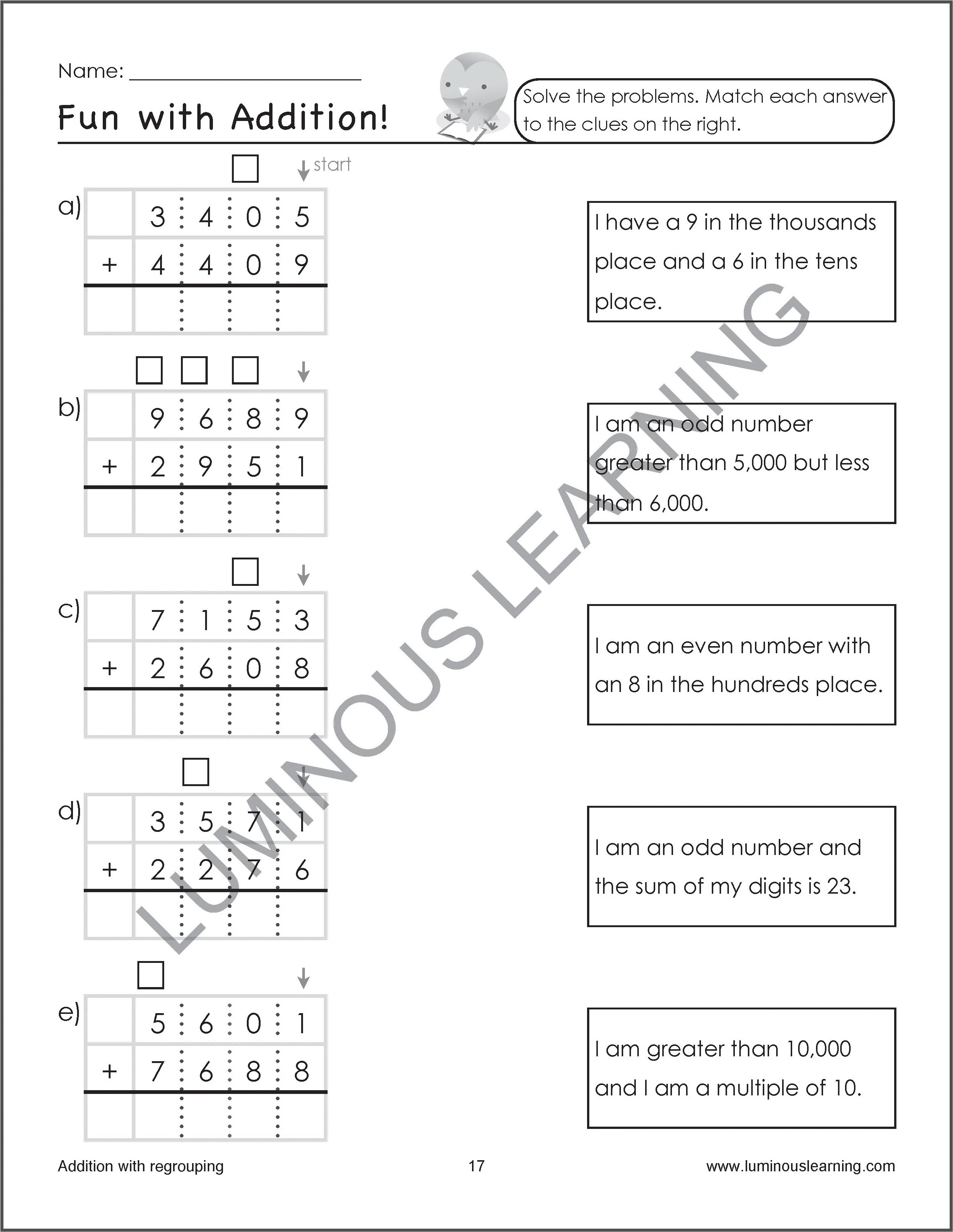 small resolution of Grade 4 Addition and Subtraction Workbook