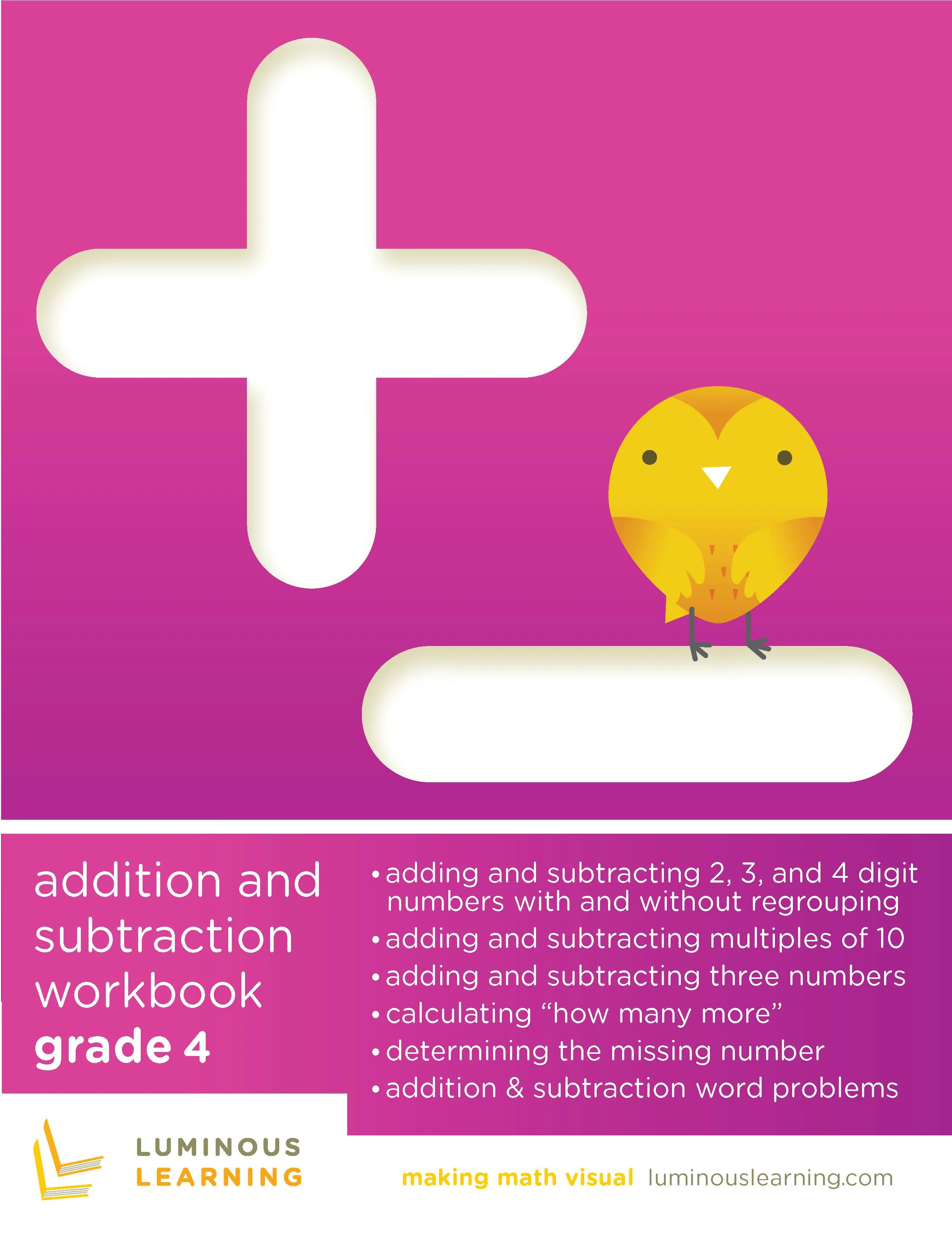 hight resolution of Grade 4 Addition and Subtraction Workbook