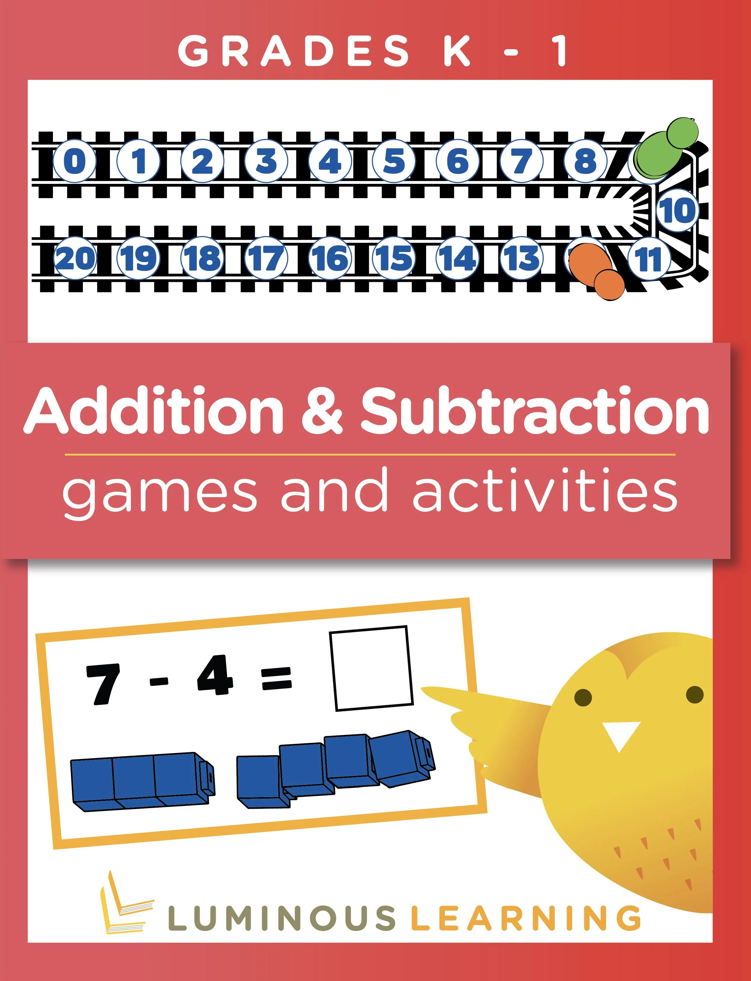 hight resolution of Addition and Subtraction Games and Activities - Grades K - 1