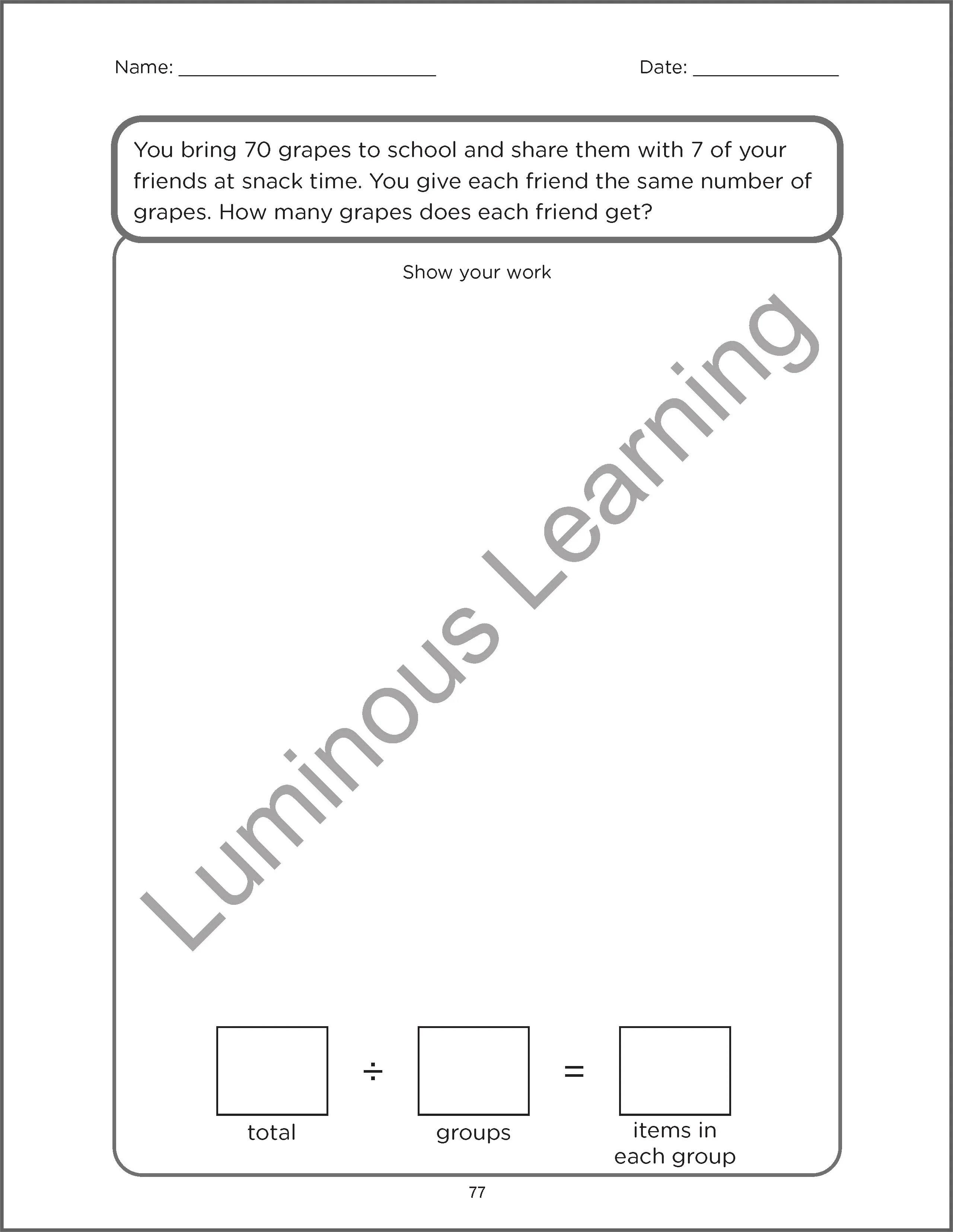 Multiplication and Division Word Problems - Grade 3 Math Workbook: Mak [ 3310 x 2560 Pixel ]