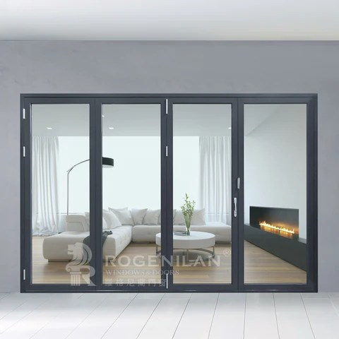 rogenilan 75 accordion aluminum glass patio exterior 12 feet bifold doors folding doors on china wdma