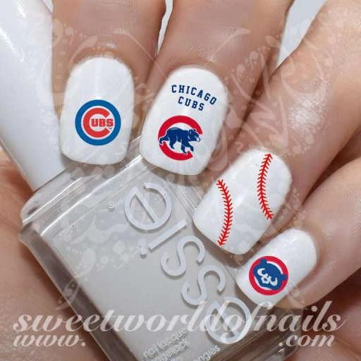 chicago cubs baseball mlb nail