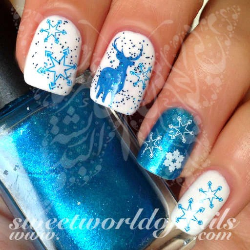 christmas nail art water decals