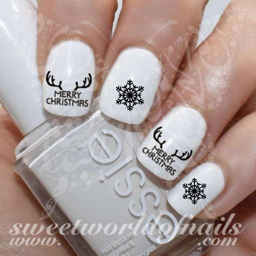 merry christmas nails antlers nail