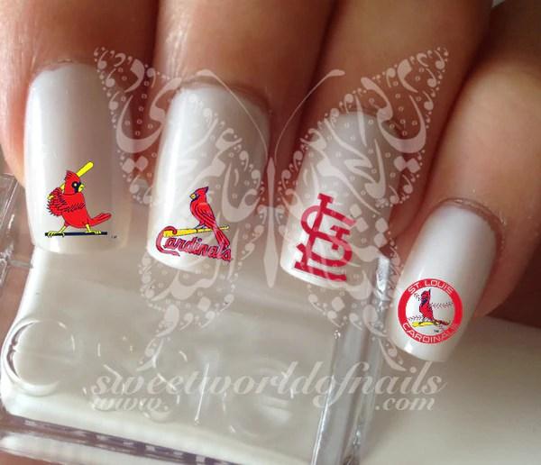 st louis cardinals baseball nail