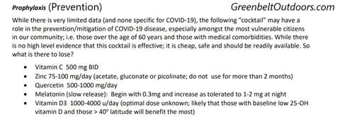 Coronavirus Prevention Cocktail Recipe Covid-19 treatment Coronavirus Cure Vitamin C
