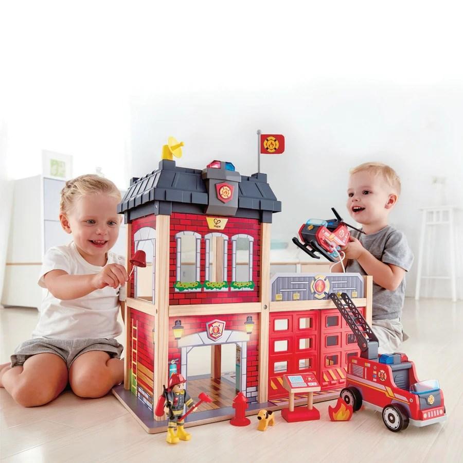 Hape Fire Station New Design 2018 Kidzinc Australia
