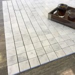 Bianco Carrara 2x2 Honed Polished Marble Square Mosaic Tile Allmarbletile